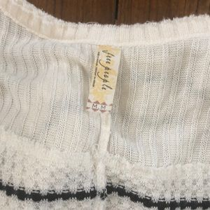 Free People Sweaters - Free People cream/black striped sweater size M